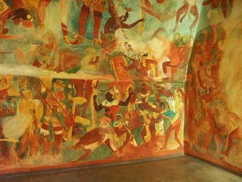 Bonampak detalle de pintura mural for El mural de bonampak