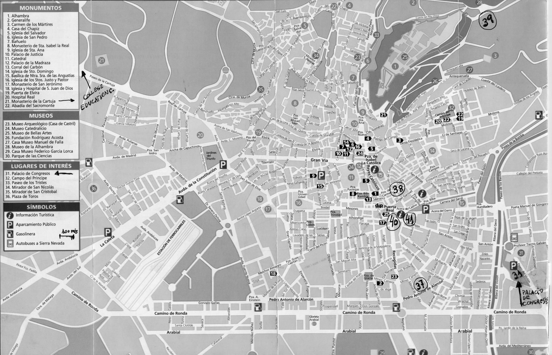 Mapa De Calles Y Avenidas De Cochabamba Bolivia