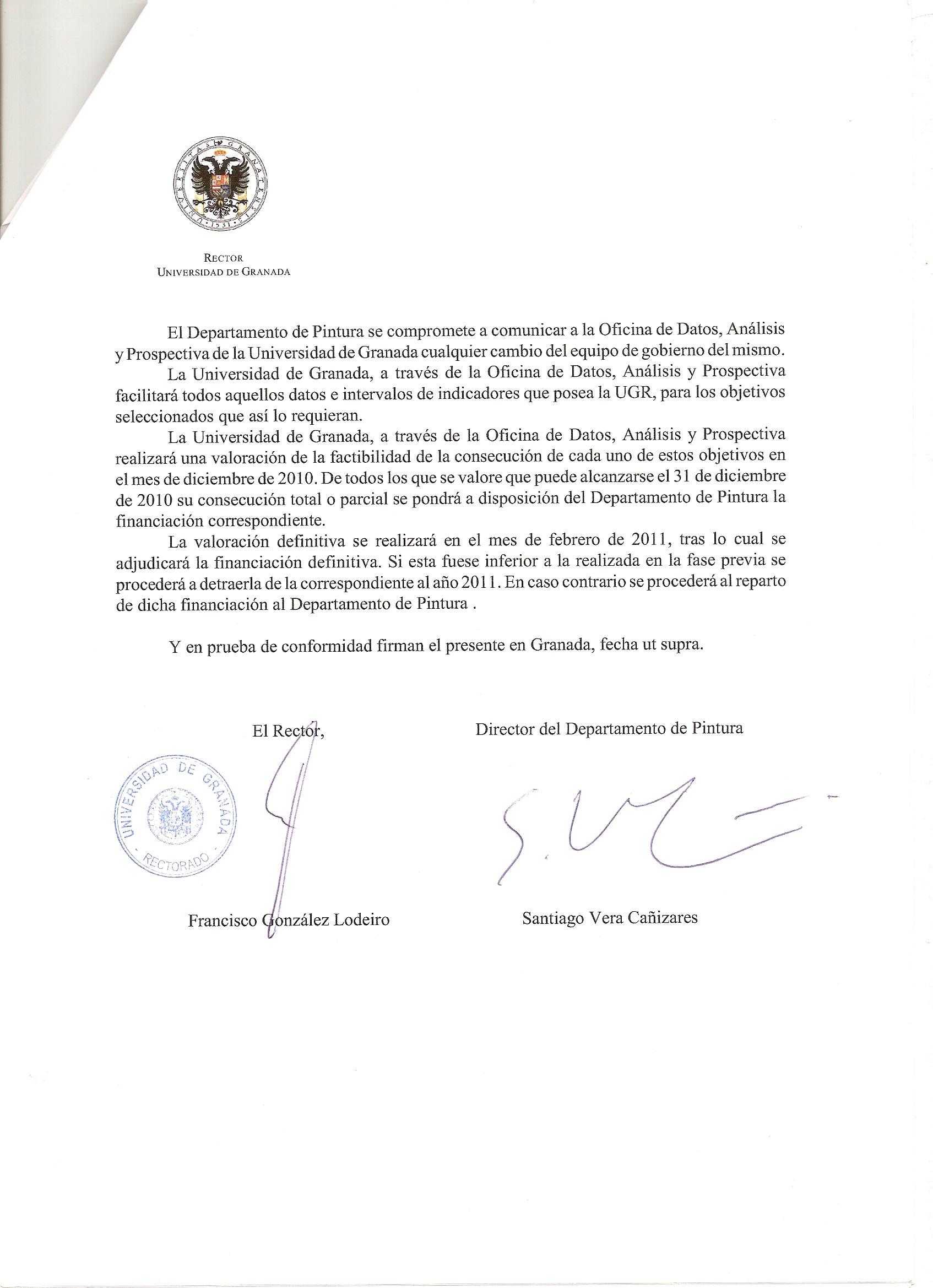 Contrato programa 2010 departamento de pintura bbaa for Contrato documento