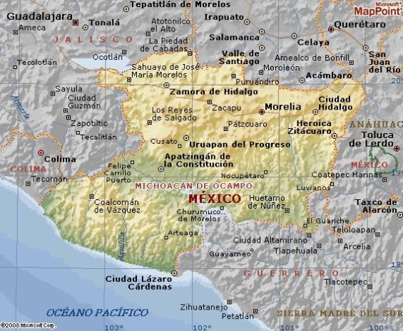 Mapa 2 Estado De Michoacan De Ocampo Mapa 3 Region Purepecha
