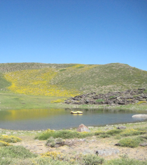 A lake in the Sierra Nevada mountain range