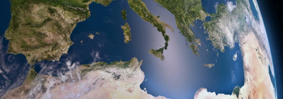 The Mediterranean Sea as seen from space
